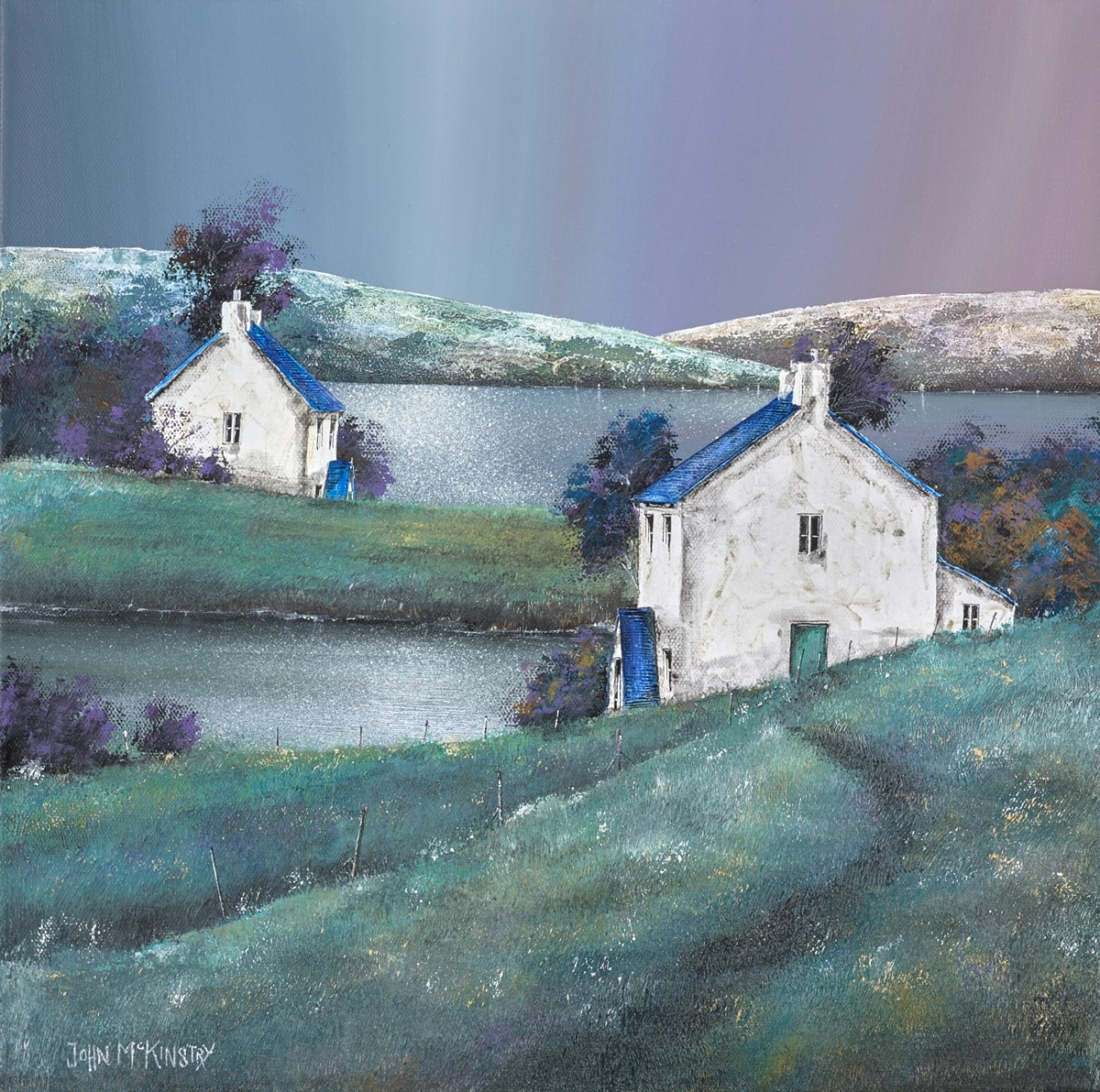 Silent Waters by john mckinstry -  sized 16x16 inches. Available from Whitewall Galleries